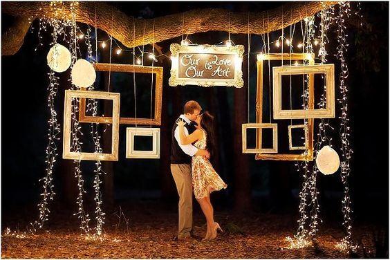 Keretes esküvői dekoráció
