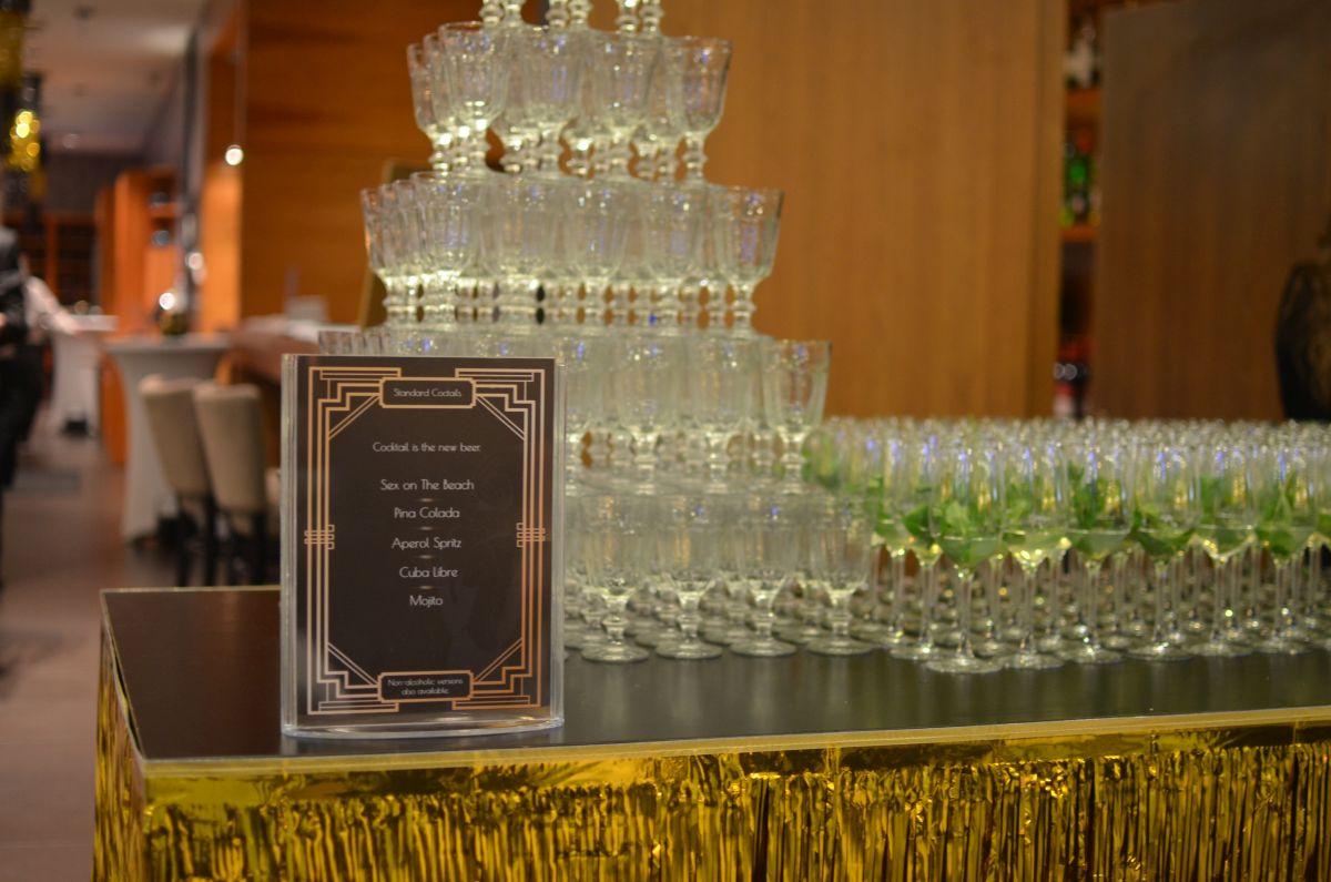 Great Gatsby esküvői dekoráció