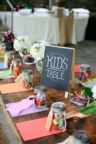 Esküvői gyerekasztal