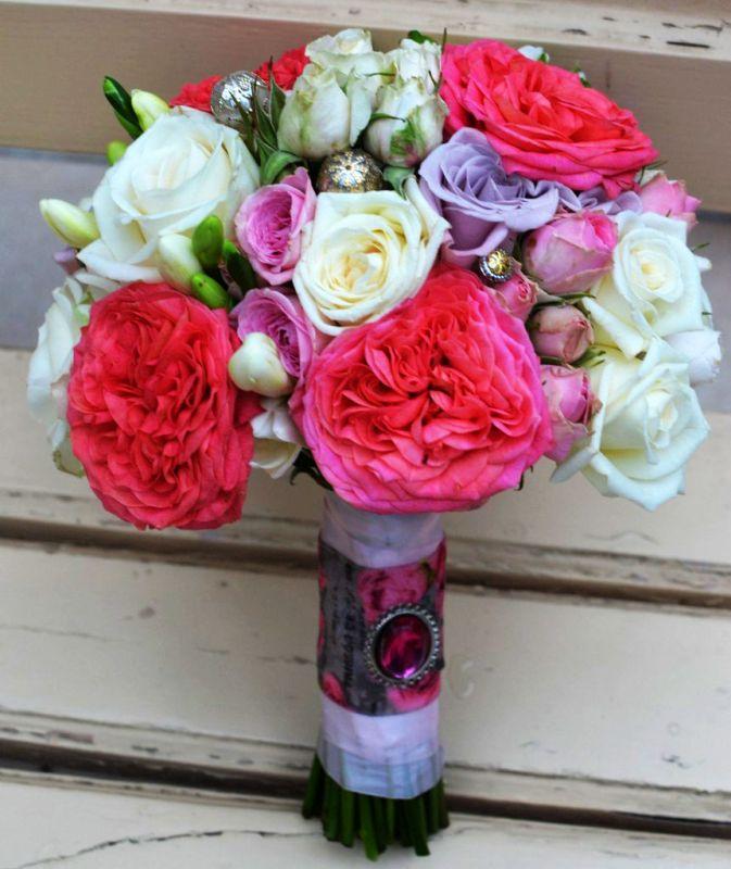 menyasszonyi rózsacsokor