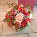 Őszi asztaldísz almával