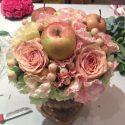 Őszi asztaldísz púderrózsaszínben