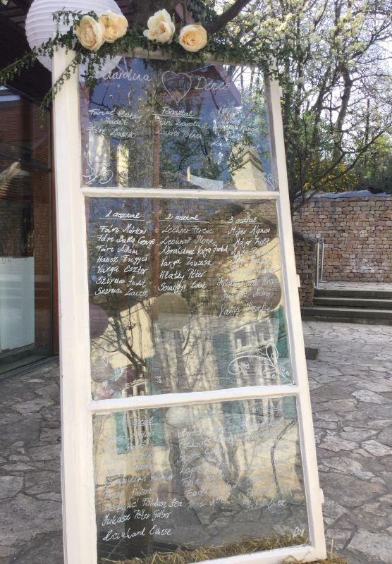 Vintage ablak dekoráció