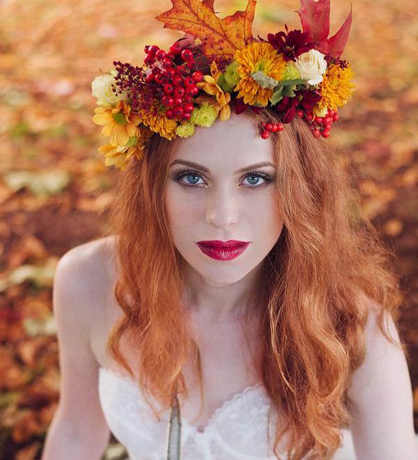 Faleveles őszi fejdísz