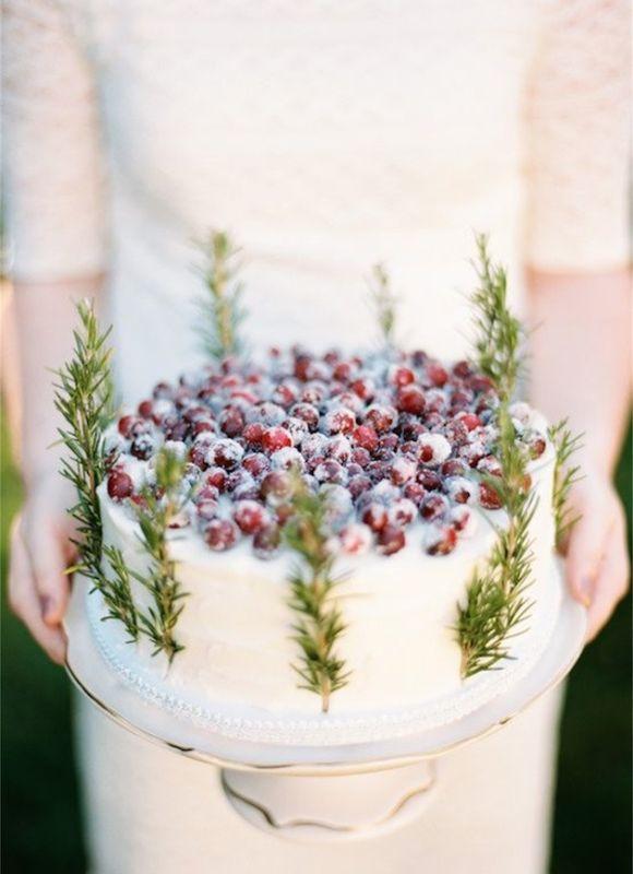 Téli esküvői torta