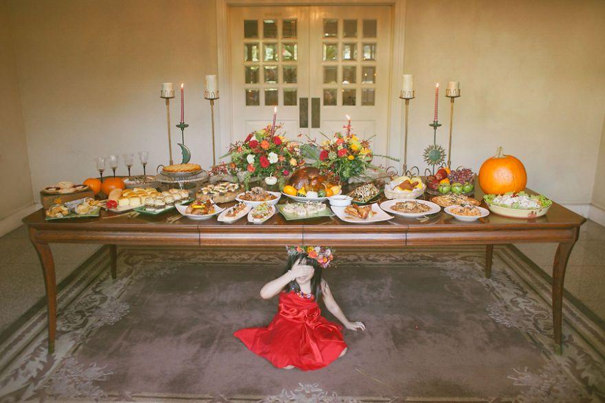 Hálaadás napi asztal esküvői dekoráció