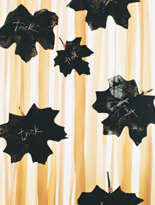 Halloween falevél dekoráció