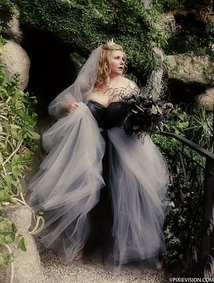 Halloween menyasszonyi ruha
