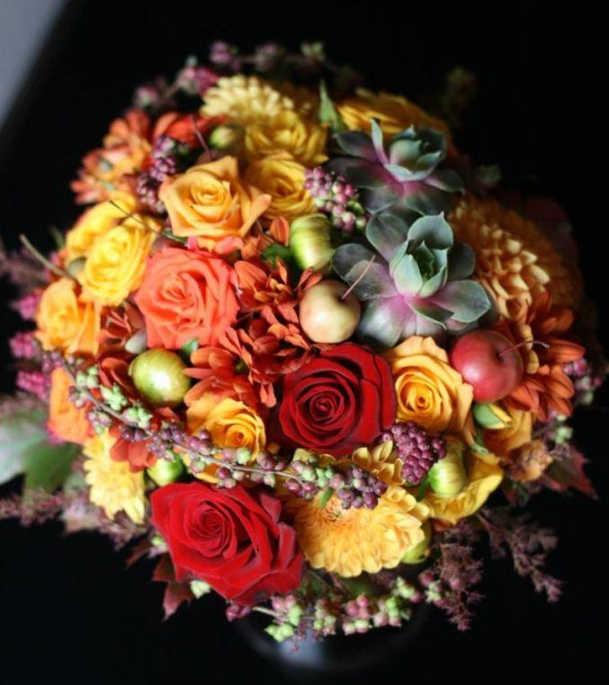 Bohókás menyasszonyi csokor