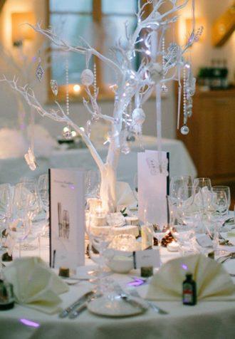 Kristályos esküvői dekoráció