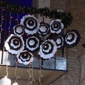 Fekete-fehér virágok