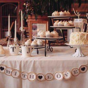 Eljegyzési party édességek