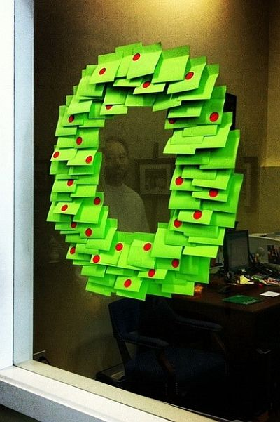 Post-it adventi koszorú