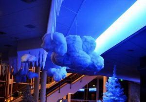 Jégcsap és hópehely dekoráció
