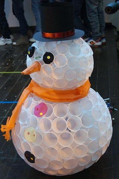 Pohár hóember