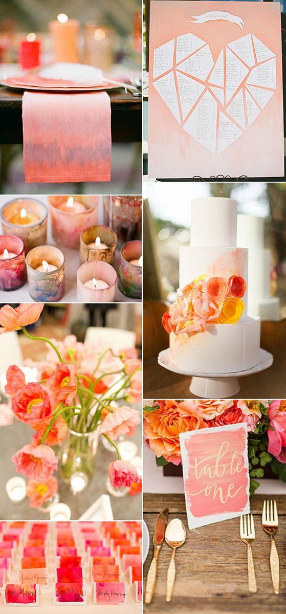 Vízfesték hatású esküvői dekoráció