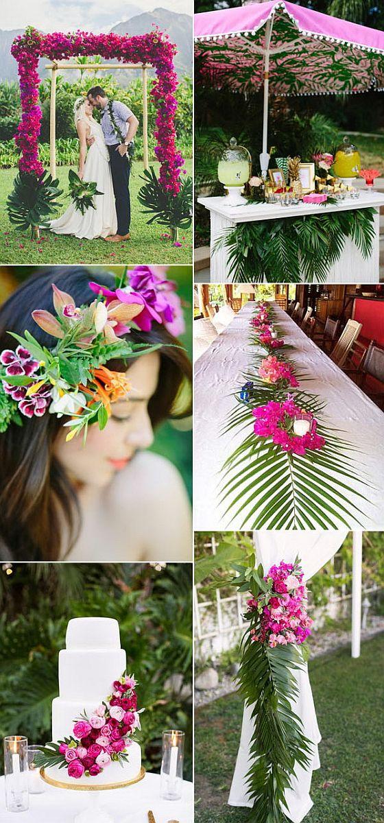 Trópusi esküvői dekoráció