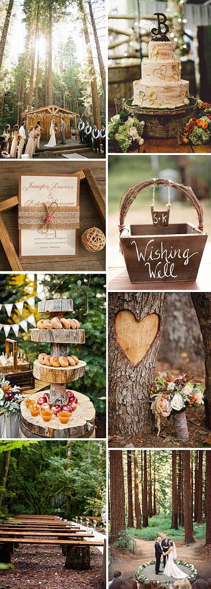 Erdei esküvői dekoráció