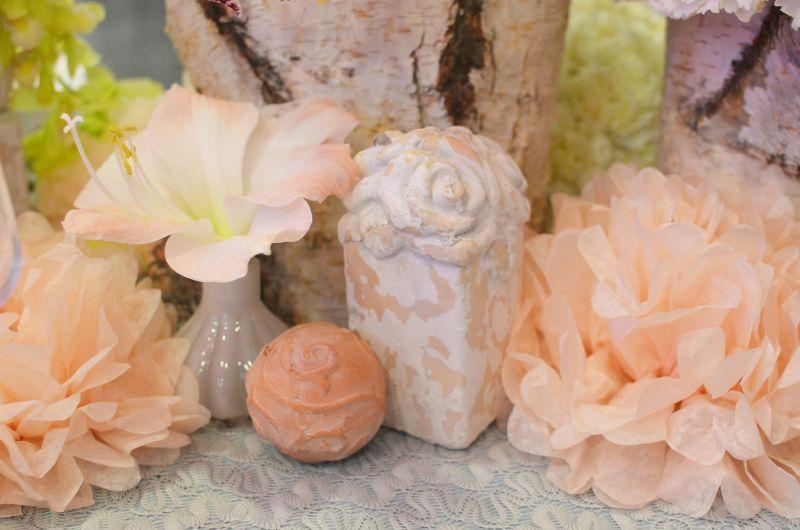 Pasztell esküvői dekoráció