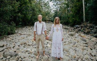 Hipster menyasszony és vőlegény