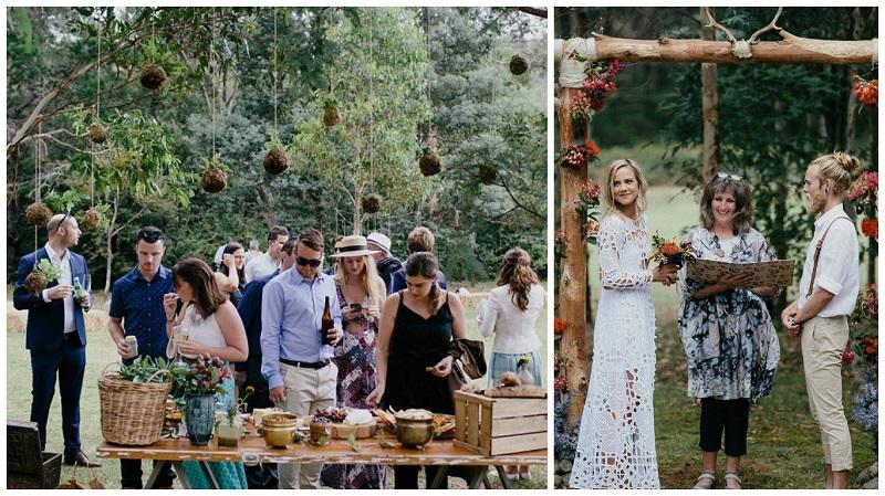 Hipster esküvő