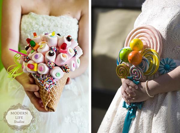 Cukorka menyasszonyi csokor