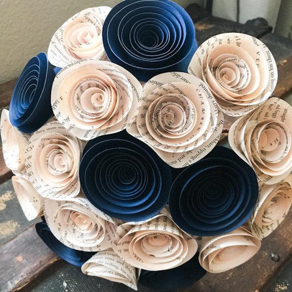 Papír menyasszonyi csokor