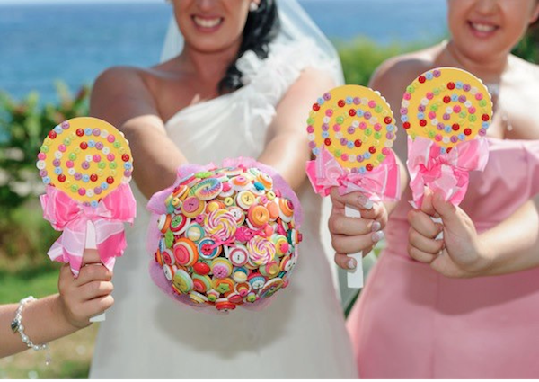 Gom menyasszonyi csokor