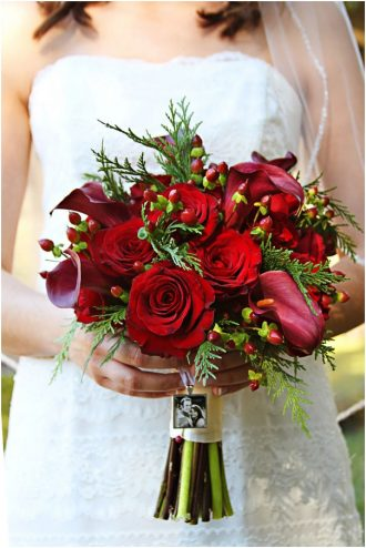 Valentin-napi menyasszonyi csokor