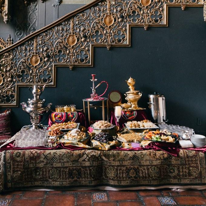 Desszert asztal perzsa stílusban