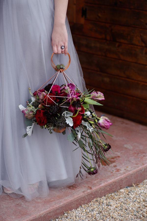 Geometrikus menyasszonyi csokor