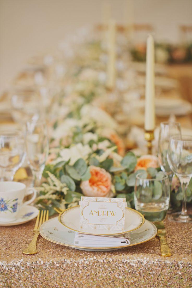 Art Deco esküvői dekoráció