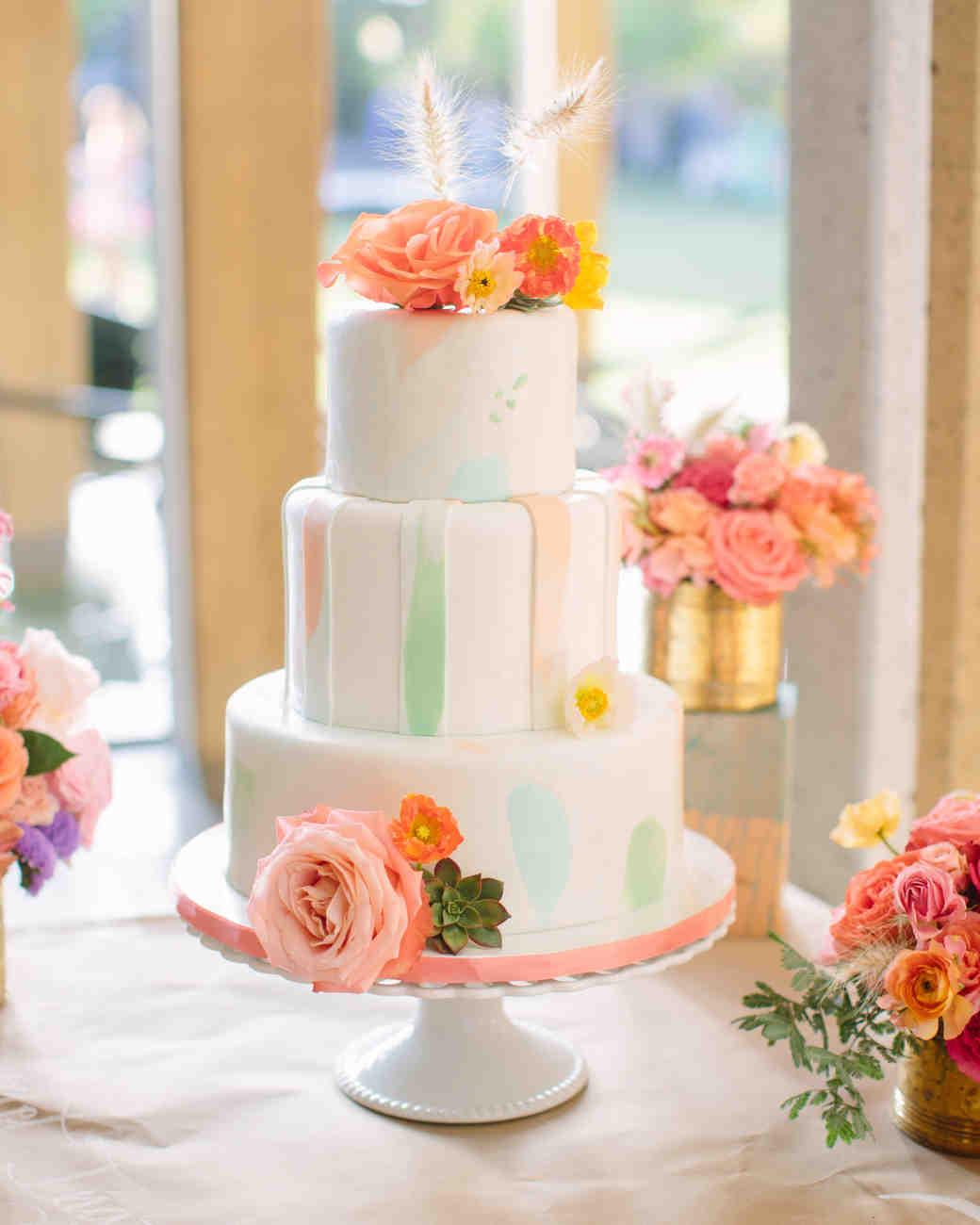 Festői esküvői torta