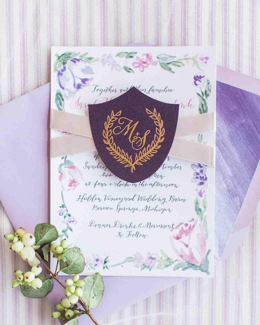 Festői esküvői meghívó