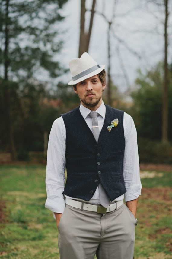 Stílusos vőlegény kalap